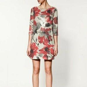 Zara Floral Sequin Dress